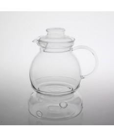Imbryk z podgrzewaczem szklany